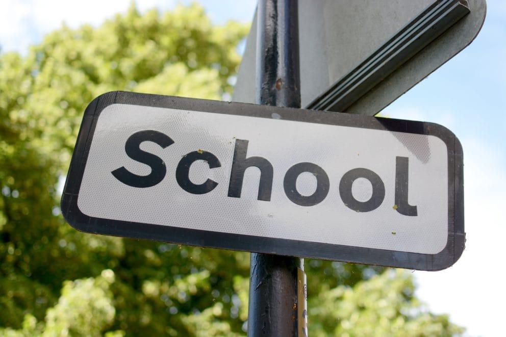 icosawater school sign